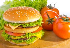 Free Big Hamburger Stock Photography - 32797882