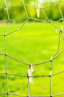 Free The Hole On An Old Football Of Gate, Background Royalty Free Stock Image - 32798586