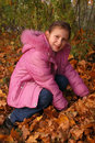 Free The Girl And Autumn Leafs Stock Photos - 3284013