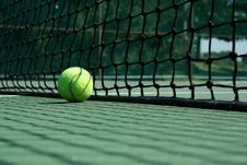 Free Tennis Ball Near Net Royalty Free Stock Photo - 3280115