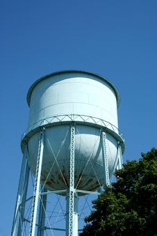 Free Blue Water Tower Stock Image - 3280171