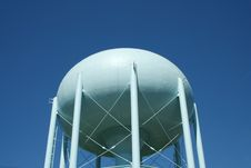 Free Blue Water Tower Royalty Free Stock Photography - 3280177
