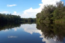 Suwannee River Reflections Royalty Free Stock Photos
