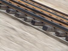 Free Incline Railroad Tracks Royalty Free Stock Photography - 3281207