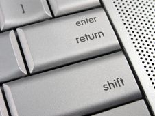 Free Silver Laptop Return Shift Key Royalty Free Stock Image - 3281386