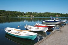 Free Sweden Boat Dock 7 Stock Photos - 3281463