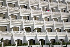 Free White Balconies Stock Image - 3281771