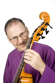 Musician With His Instrument Stock Images