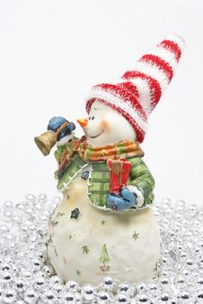 Free Snowman Figure Stock Photography - 3282632