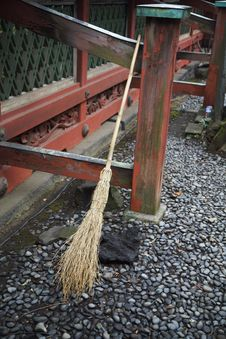 Japanese Broom Royalty Free Stock Images