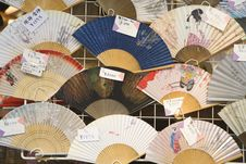 Fans In A Market In Japan Stock Photos