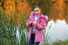 Free The Girl And Autumn Leafs Stock Images - 3283934