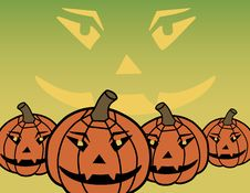 Free Scary Halloween Pumpkins Royalty Free Stock Image - 3284476