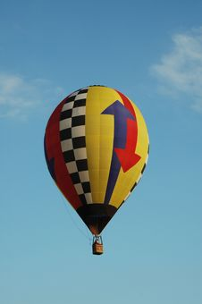 Free Hot Arrow Air Balloon Stock Photo - 3284950