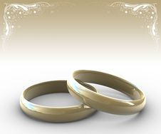 Free Two Wedding Rings Stock Images - 3285274