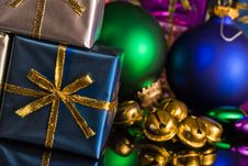 Jingle Bells And Presents Royalty Free Stock Photos
