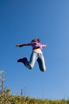 Free Girl Jumping Stock Photography - 3286332