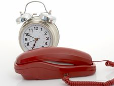 Telephone And Alarm Clock Stock Image
