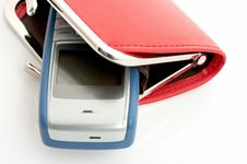 Free Wallet And Cellphone Stock Photos - 3288343
