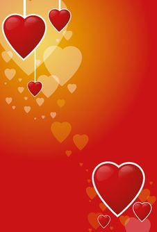 Free Background With Hearts Royalty Free Stock Images - 3288349