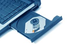 Free Open CD-ROM Drive On A Laptop. Stock Image - 3289521