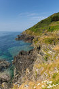 Free Coastal View From Rocks At Entrance To Polperro Cornwall England Royalty Free Stock Images - 32804109