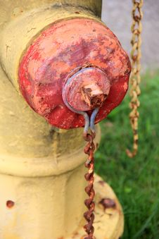 Old Fire Hydrant With Rusty Chains Royalty Free Stock Images