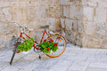 Free Bike With Flowers. Royalty Free Stock Images - 32828639