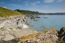 Cornwall Coast Towards Looe England Stock Images