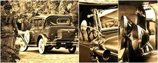 Oldtimer Collage Stock Photo
