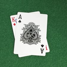 Free Blackjack Royalty Free Stock Image - 32833496