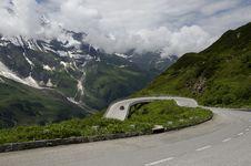 Free Car Climb The Alps Mountain Stock Image - 32839081