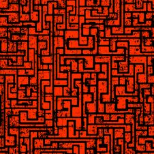 Free Labyrinth Abstract Seamless Stock Photography - 32858252