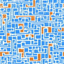 Free Labyrinth Abstract Seamless Stock Photography - 32858262