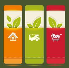 Free Bio Concept Design Eco  Banners Royalty Free Stock Photos - 32858788