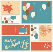 Free Illustration For Happy Birthday Card. Stock Image - 32859021