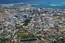 Free Downtown View From Table Mountain. Cape Town, West Stock Photo - 32859210