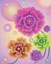 Free Abstract Flowers With Balloons Stock Photos - 32864253