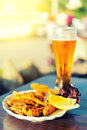Free Glass Of Beer And Fish Stock Photos - 32868193