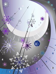 Free Decorative Winter Composition Royalty Free Stock Photography - 32864557