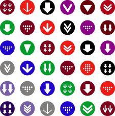 Flat Arrow Icons Stock Photography