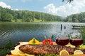 Free Summer Picnic At The Lake Stock Photography - 32886712