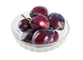 Free Ripe Plums In A Dish Stock Images - 32889554