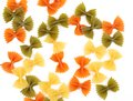 Free Background Of The Farfalle Pasta Three Colors. Royalty Free Stock Photography - 32889947