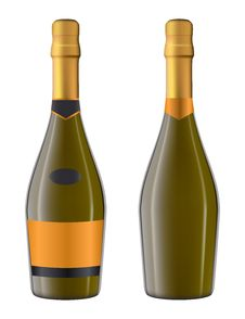 Free Bottle Of Champagne Royalty Free Stock Images - 32881159