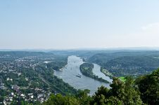 The Rhine Panorama Stock Photography