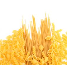 Free Yellow Italian Pasta In Different Forms Royalty Free Stock Photography - 32889007
