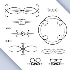 Free Page Decoration Elements Stock Image - 32889201