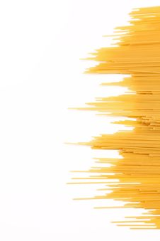 Spaghetti Right And The White Background Left Royalty Free Stock Image