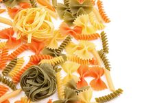 Free Tagliolini On A Background Of Different Pasta Royalty Free Stock Images - 32889869